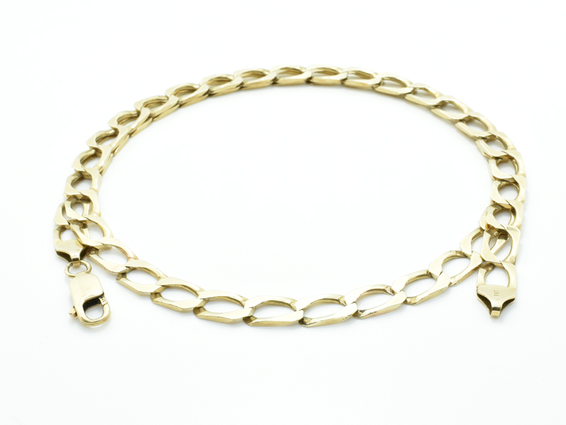 9ct Square Curb Chain 29.1g